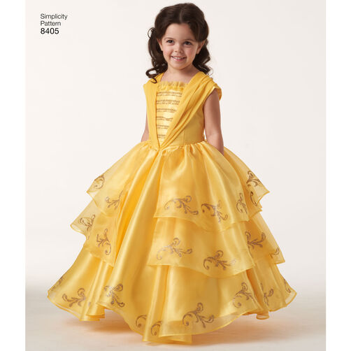 simplicity pattern ea840501 child and 18quot doll disney live