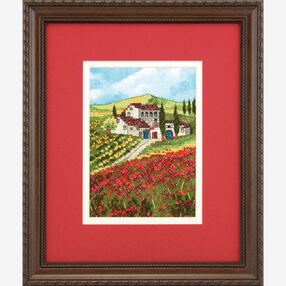 Poppy Fields Stamped Cross Stitch_70-65134