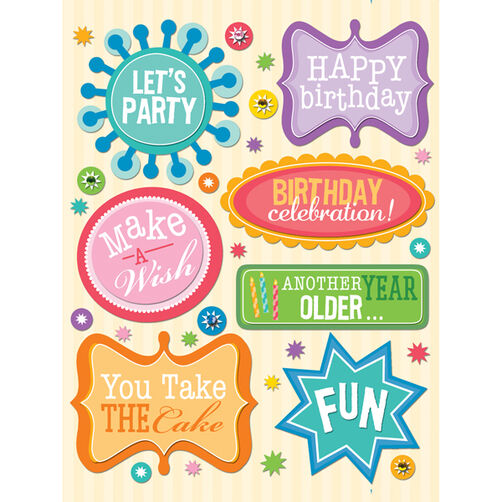 Birthday Words Grand Adhesions_30-245006