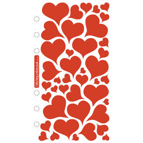 Foil Hearts Classic Stickers _SPVS12