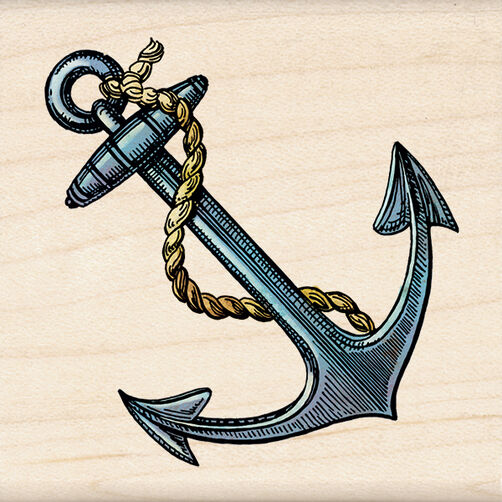 Anchor Wood Stamp_60-00985