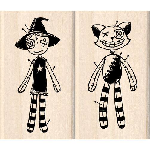 Voodoo Dolls Wood Stamps_60-00816