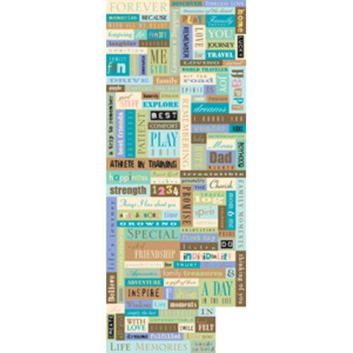 Studio K Words & Phrases Embossed Stickers_667075