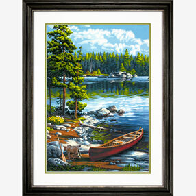 Canoe by the Lake, Paint by Number_73-91446