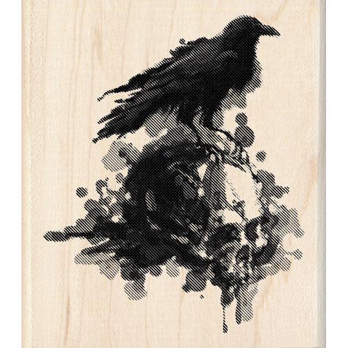 Raven Wood Stamp_60-00809