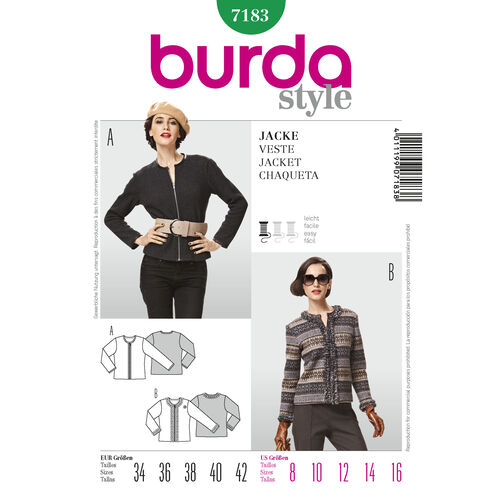 Burda Style Pattern 7183 Jacket
