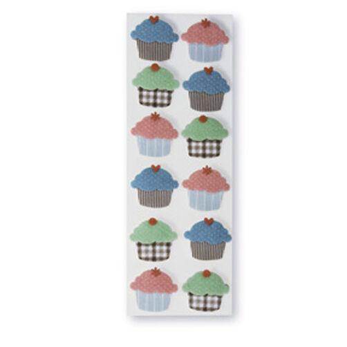 Dimensional Cupcake Stickers_M345005