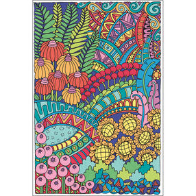 Flowers Poster, Pencil by Number_73-91634