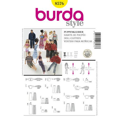 Burda Style Pattern 8576 Doll Clothes