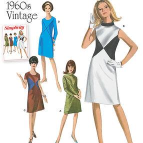 Misses' and Miss Plus 1960's Vintage Dresses