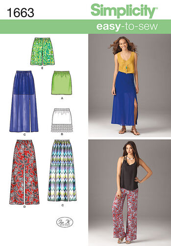 Misses' Easy to Sew Skirts & Pants