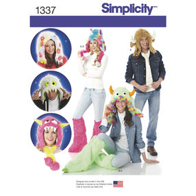 Simplicity Pattern 1337 Misses', Men's & Teens' Hats and Leg Warmers