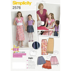Simplicity Pattern 2576 Child's & Girls' Skirts