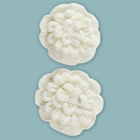 White Crochet Mum Embellishments_50-60355