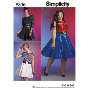 Simplicity Pattern 8396 Plus Size Cosplay Dress
