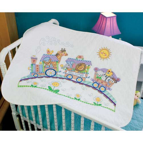 Baby Express Quilt, Stamped Cross Stitch_73427