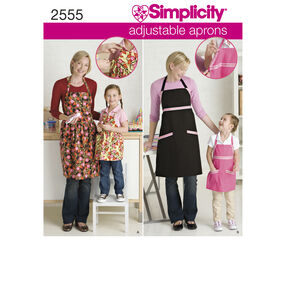 Simplicity Pattern 2555 Child's & Misses' Aprons