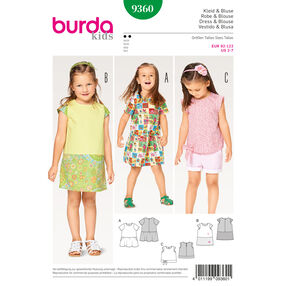 Burda Style Pattern B9360 Child Dress, Blouse and Skirt