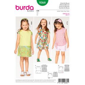 Burda Style Pattern B9360 Child Dress, Blouse and Skirt