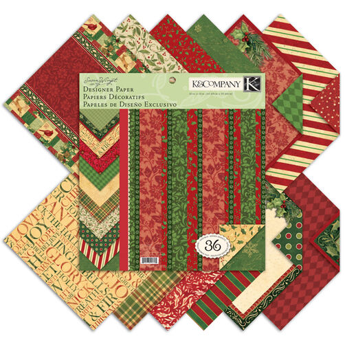 Susan Winget Glad Tidings 12x12 Designer Paper Pad_30-595705