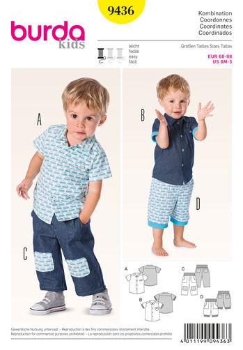 Burda Style Pattern 9436 Baby