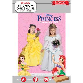 Simplicity Pattern EA990201 Premium Print on Demand Child's Disney Princess Costumes