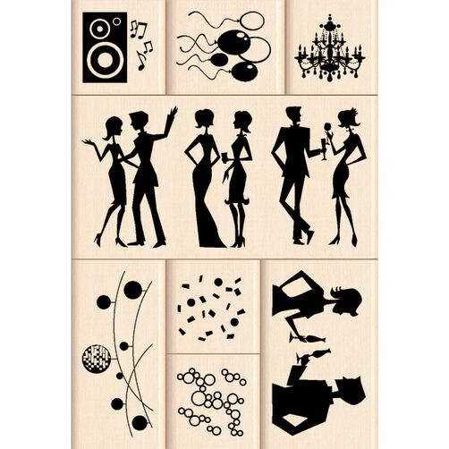 Party In Style Layering Wood Stamps_60-10105