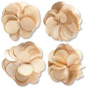 Gold Satin Flower Embellishments_50-60319