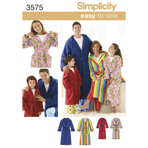 Simplicity Pattern 3575 Child's, Teens' & Adults' Robe