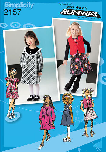 Simplicity Pattern 2157 Toddler's & Child's Dresses. Project Runway Collection