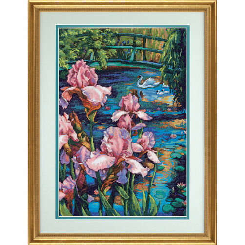 Iris and Swan, Counted Cross Stitch_70-35264