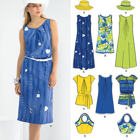 Misses' Dresses, Hat & Bag