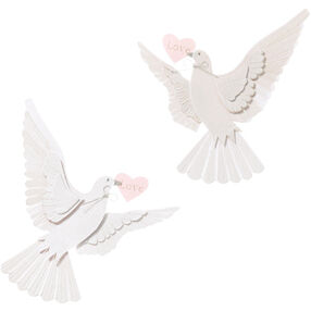 White Doves Embellishment_JJCF020C