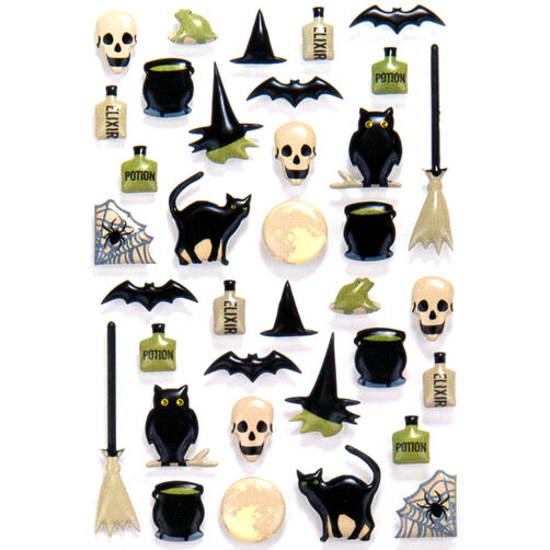 Elegant Witch Foam Icon Stickers_48-20050