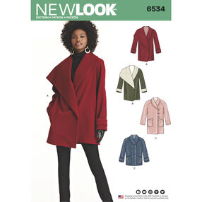 New Look Pattern 6534 Misses' Coats