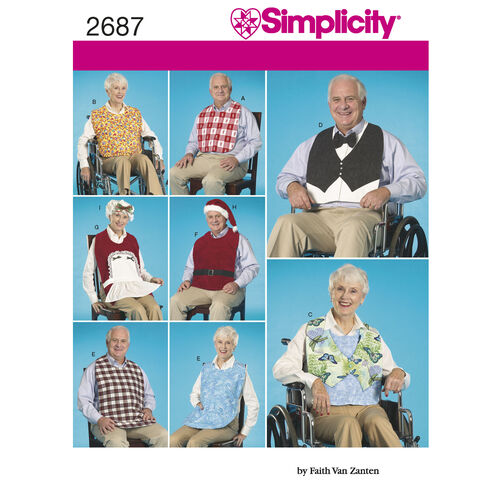 Simplicity Pattern 2687 Crafts: Clothing Protectors
