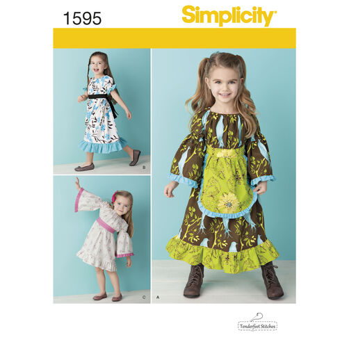 Simplicity Pattern 1595 Toddlers' and Child's Dress