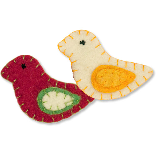 Wool Felt Holiday Birds_72-08218