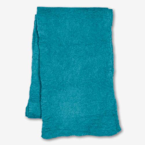 Turquoise Wool Felt Scarf_72-73652