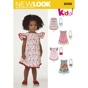 New Look Pattern 6358 Child's Dresses and Purse