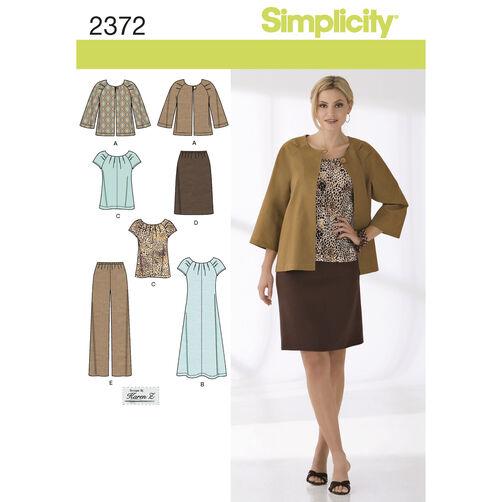 Simplicity Pattern 2372 Misses' & Plus Size Sportswear