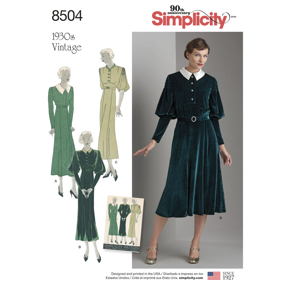 Simplicity Pattern 8504 Misses Vintage Dress