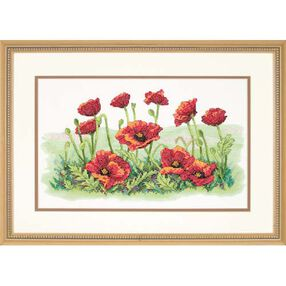 Field of Poppies, Stamped Cross Stitch_03237