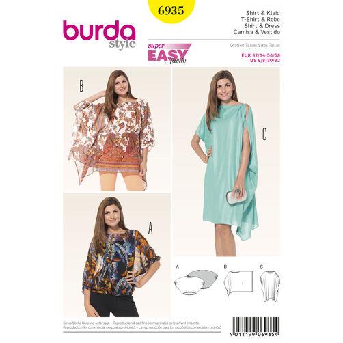 Burda Style Pattern 6935 Dresses