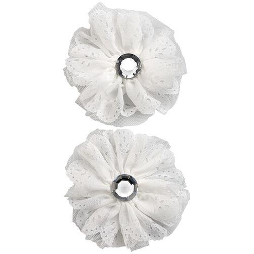 White Eyelet Flower Embellishments_50-50603