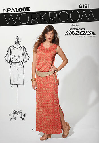 Misses' Dress in Two Lengths & Belt