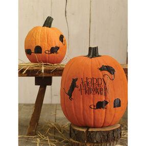 Happy Halloween Mice Pumpkin Transfer_48-20119