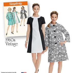 Misses' Vintage Dress and Lined Coat