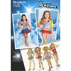 Simplicity Pattern 1120 Child's Rash Guard and Bathing Suit Pieces