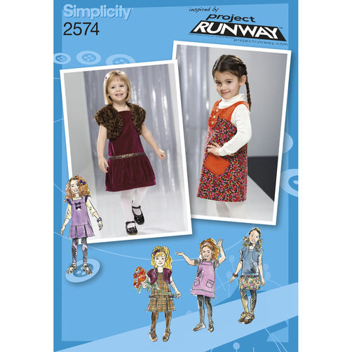 Simplicity Pattern 2574 Toddler's Dresses
